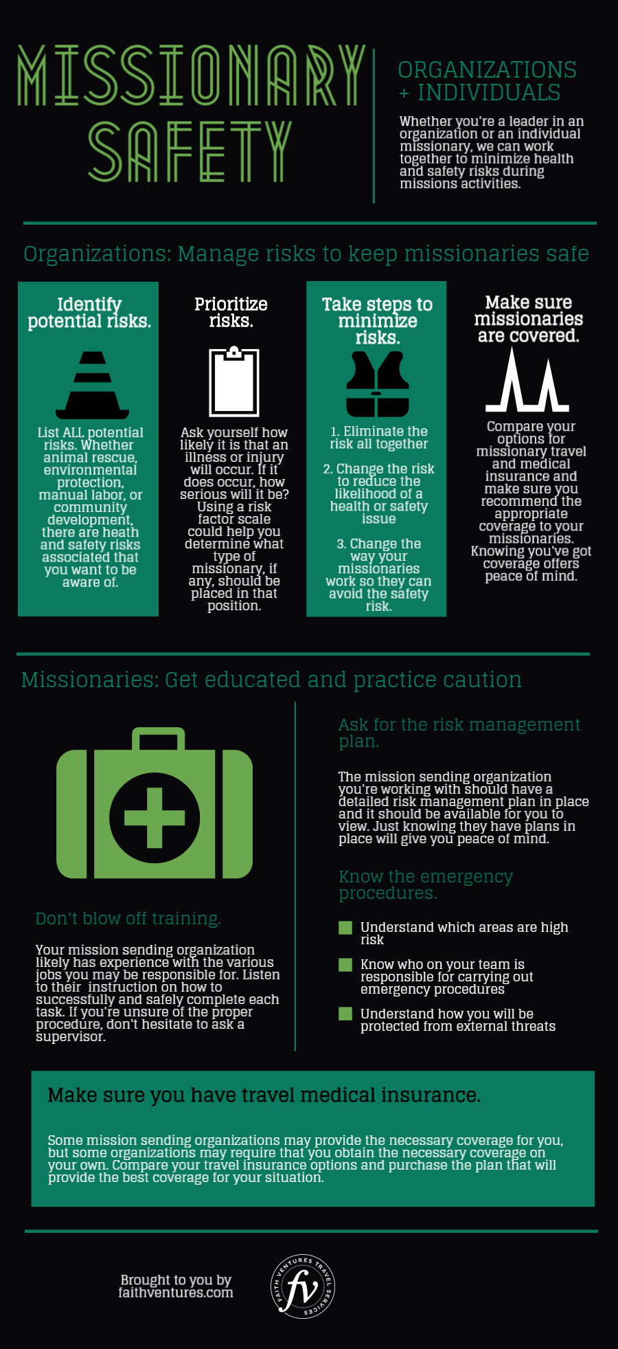 mission trip safety tips infographic