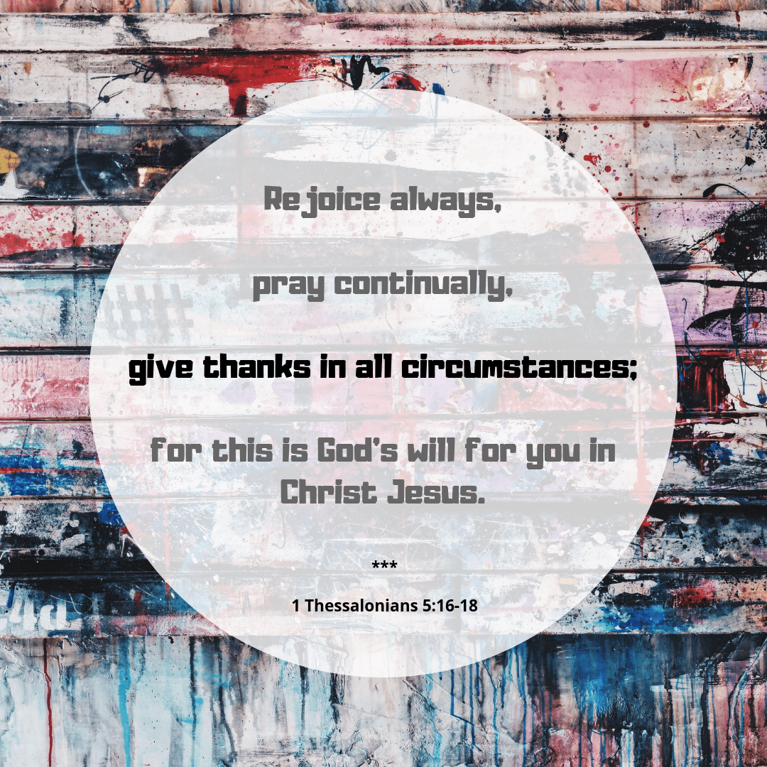 Thanksgiving Bible Verses 1 thessalonians