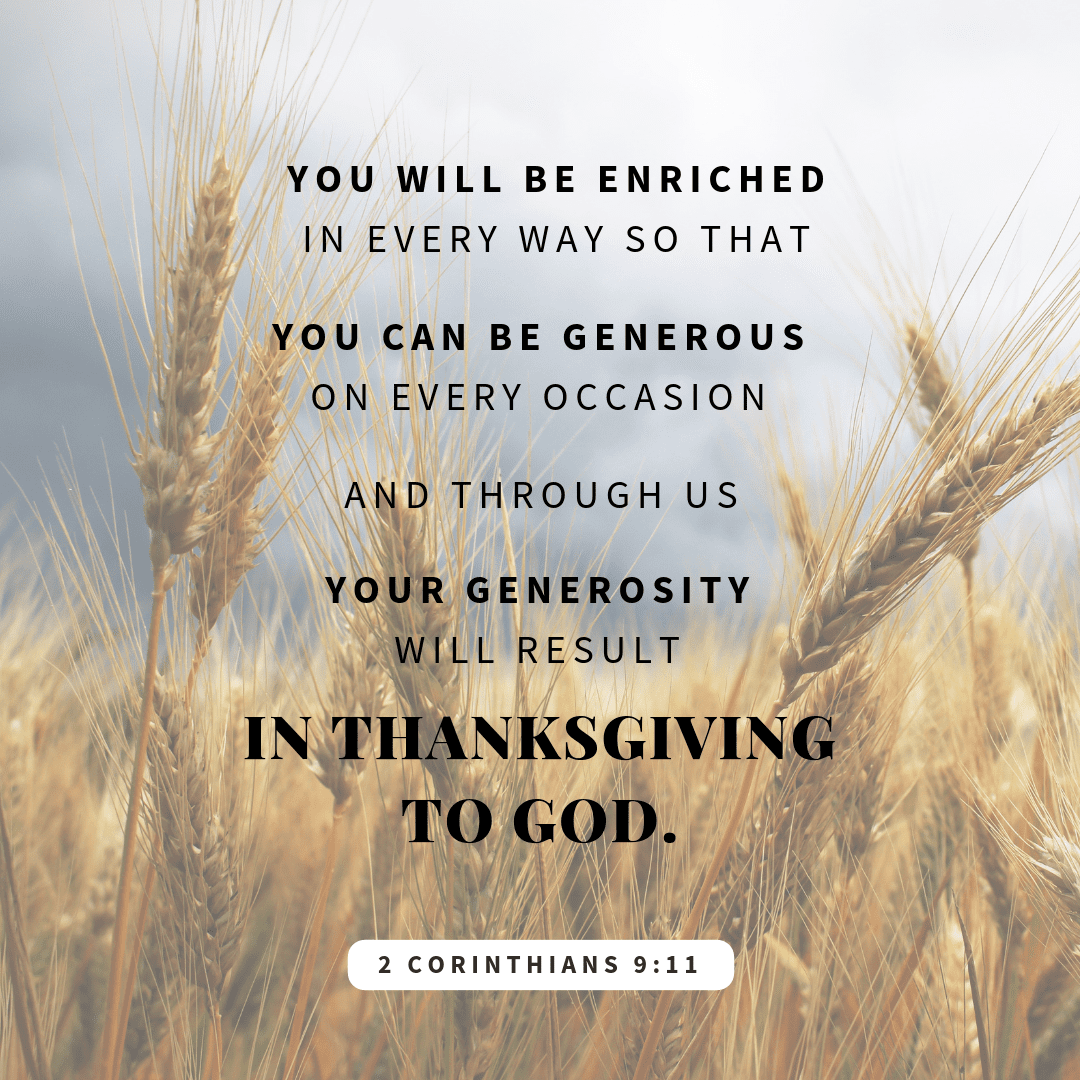 Thanksgiving Bible Verses 2 corinthians