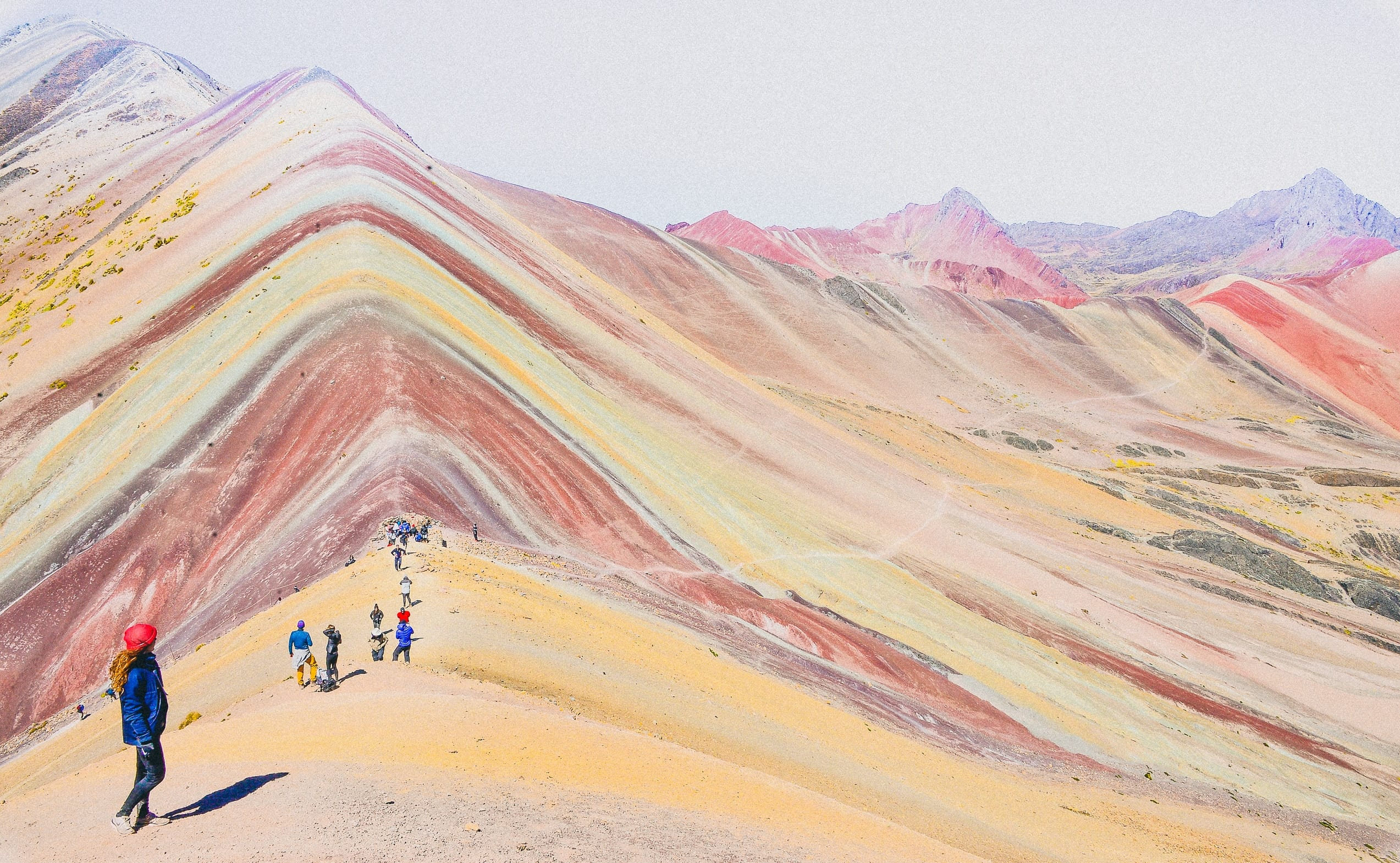 peru - nomads hiking rainbow mountains