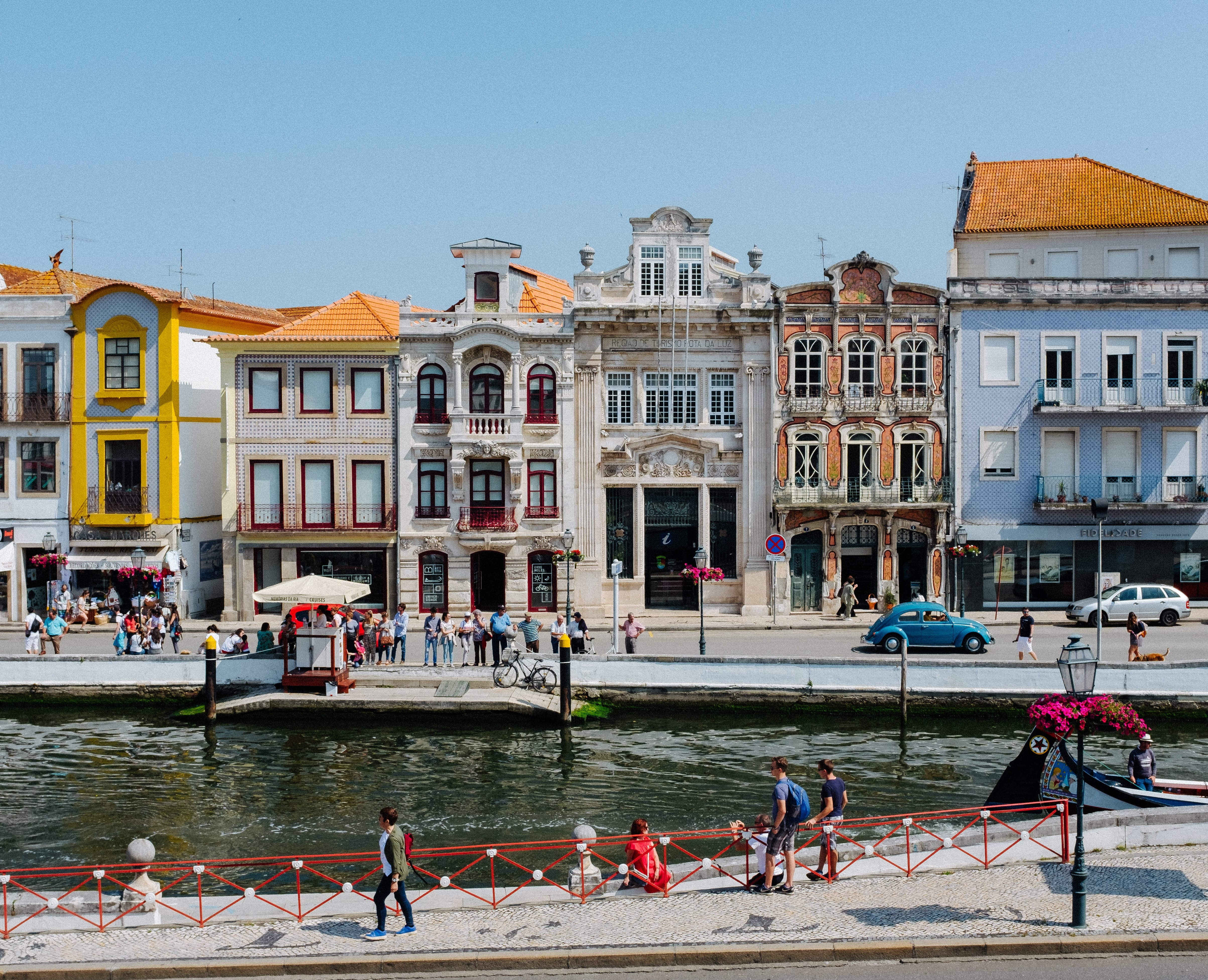 portugal - colorful buildings on water