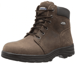 Skechers Relaxed Fit Steel Toe Boots dark brown